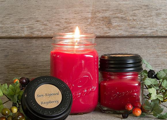 Sun-Ripened Raspberries Soy Blend Jar Candle 8oz.16oz.