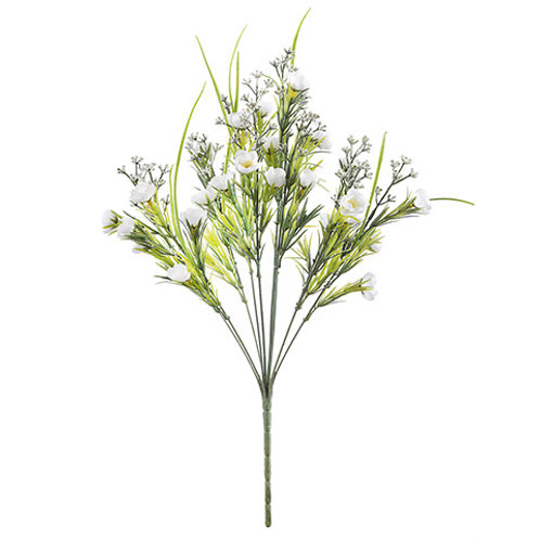 Mini Poppy Bush: White