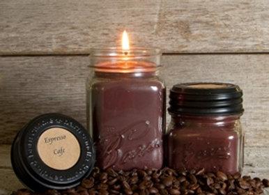 Espresso Cafe Soy Blend Jar Candle 8oz.