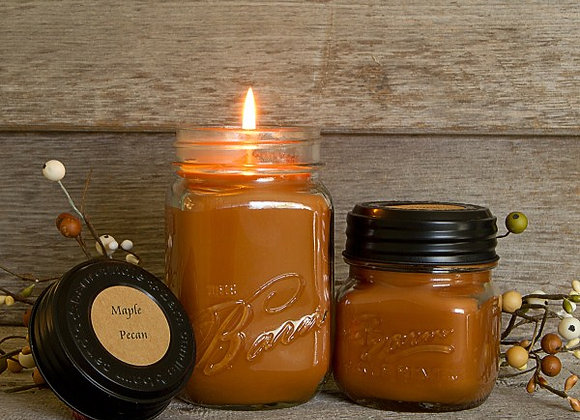 Maple Pecan Soy Blend Jar Candle 8oz.