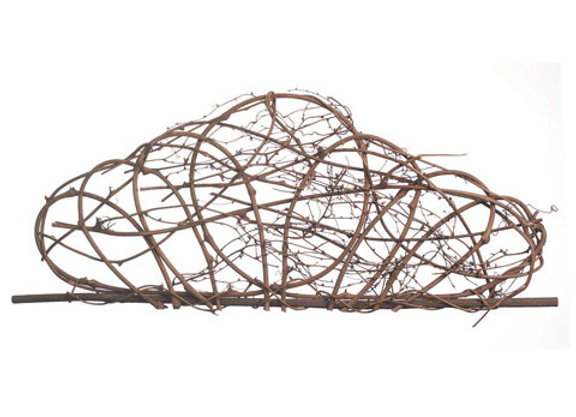 Grapevine Crown Wall Décor - Natural - 32 x 10.5 inches
