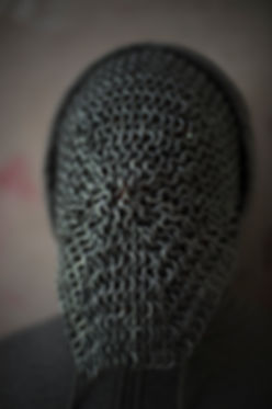 Contemporary London Chainmail mask photograph series by Amartey Golding