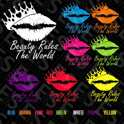 Lips And Crown Vinyl Decal
