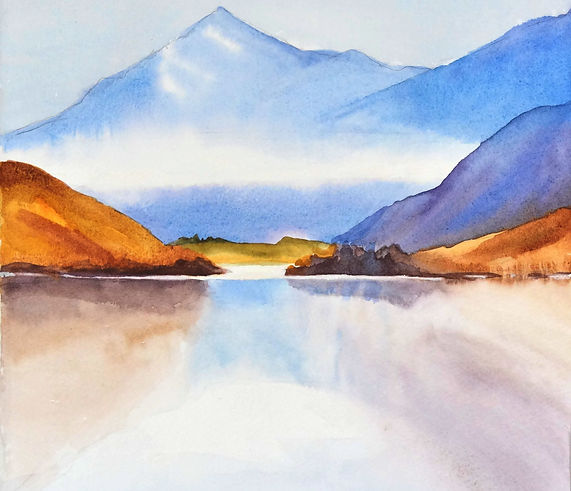 01 watercolour mountains and lake.jpg