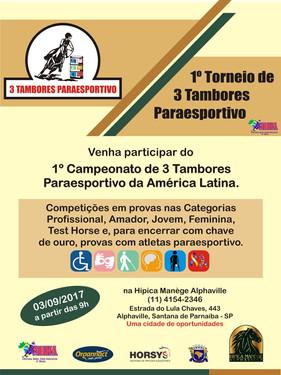 Texas Ranch participa do 1º Torneio de 3 Tambores Paraesportivo da América Latina