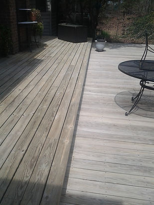 Brooks Pressure Washing  before deck and vinyl cleaning