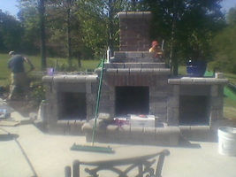 Brooks Pressure Washing Masonry repir Fire Place and wood boxes