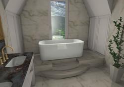 Badezimmer Möbel in Dachschräge