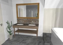 Badezimmer Möbel, Waschtisch, Landhaus Stil