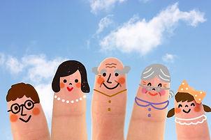青空と指に書いた家族