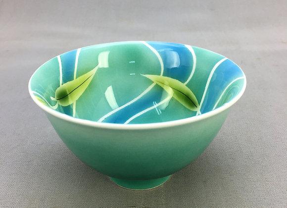 SC流水木の葉 飯碗