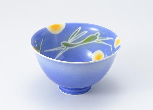 SC月に兎(青)飯碗