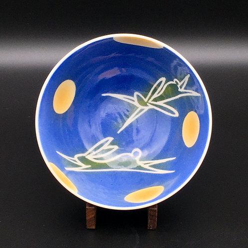 エア 月に兔(青) 飯碗