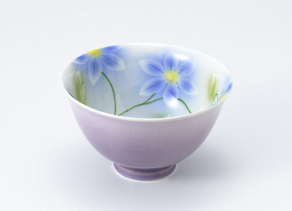 SC鉄線花(青)飯碗