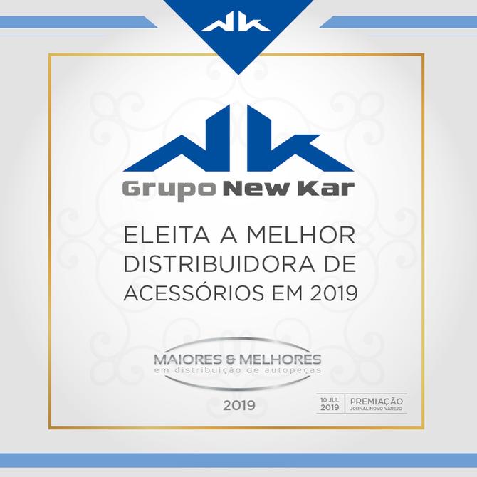 Grupo New Kar eleita a melhor distribuidora em 2019