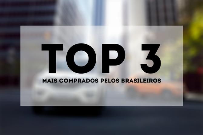 Saiba que carros estão no top 3 dos brasileiros até agora