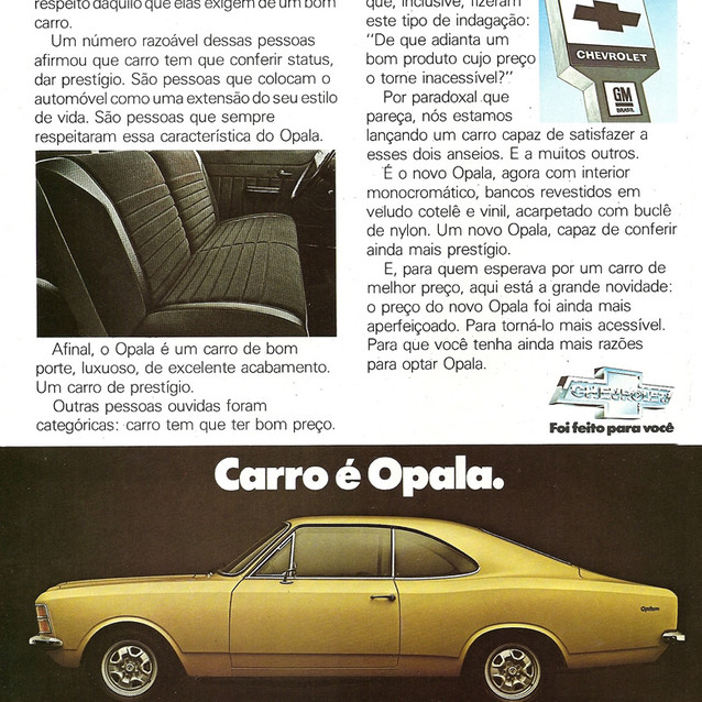propaganda antiga Chevrolet Opala 1978