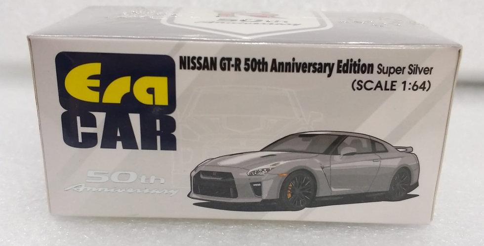 ERA 1/64 NISSAN GT R 50TH ANNIVERSARY EDITION SUPER SILVER