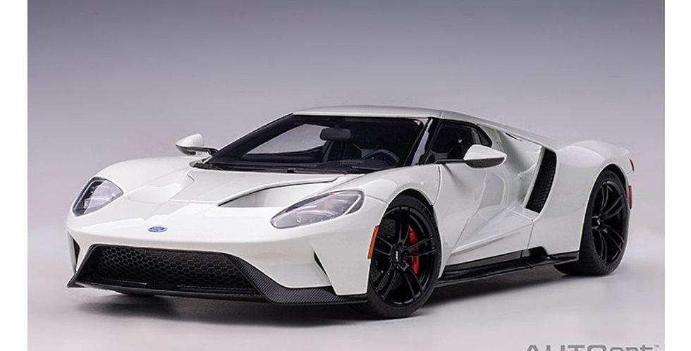 FORD GT 2017 FROZEN WHITE AUTOART 1/18 MODEL
