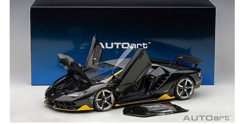 AA79114 LAMBORGHINI CENTENARIO (CLEAR CARBON WITH YELLOW ACCENTS) MODEL