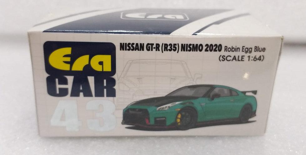 ERA 1/64 NISSAN GT R R35 NISMO 2020 MODEL ROBIN EGG BLUE