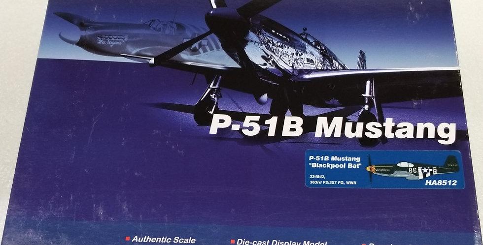 """HA8512 P-51B Mustang """"Blackpool Bat"""" 324842, 363rd FS/357 FG, WWII"""