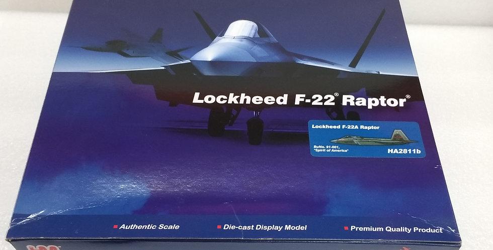 "HA2811B Lockheed F-22A Raptor BuNo. 91-001, ""Spirit of America"""