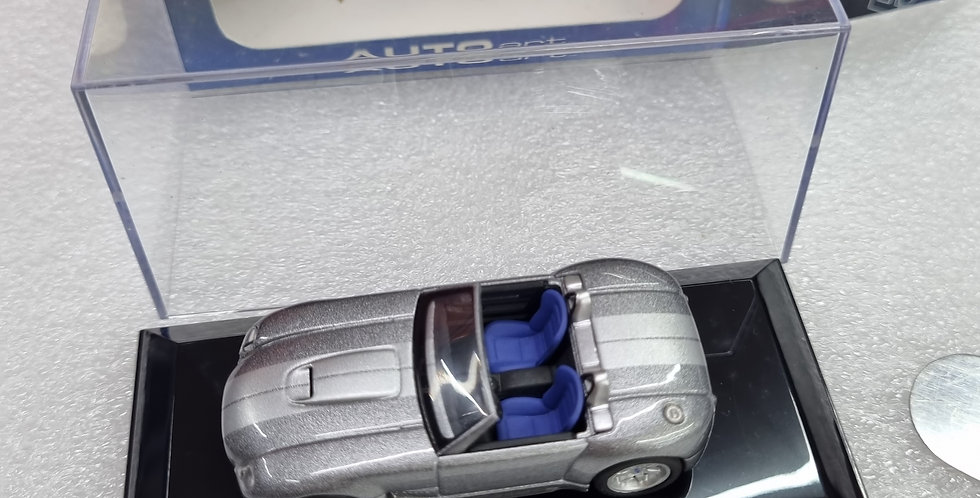 AA20541 FORD SHELBY COBRA CONCEPT TUNGSTEN SILVER WITH GREY STRIPE 1/64