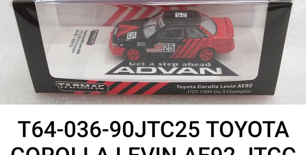 T64 036 90 JTC #25 TOYOTA COROLLA  LAVI N AE92 JTCC 1/64