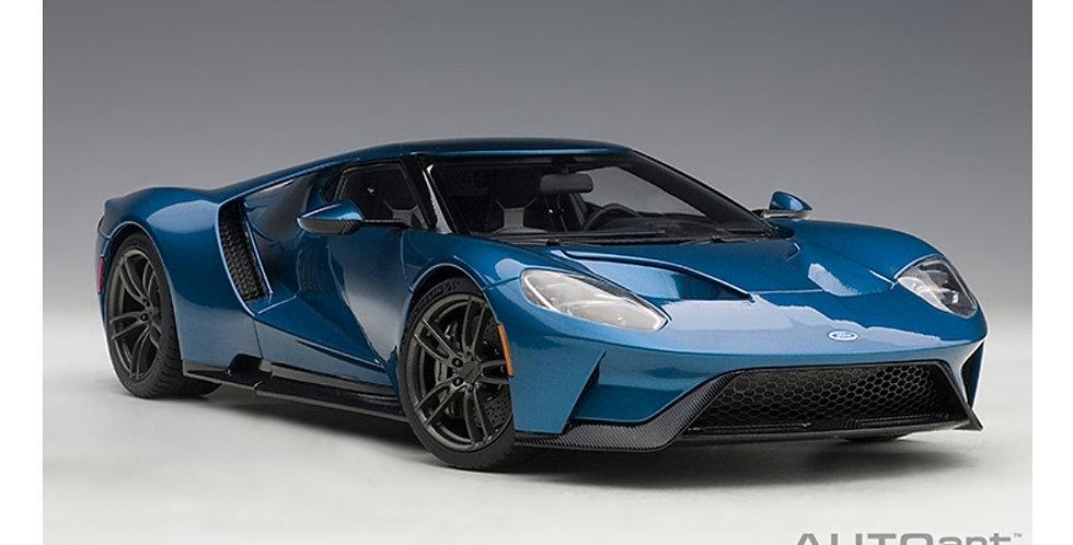 FORD GT 2017 LIQUID BLUE FULL OPENING MODEL 1/18 AUTOART
