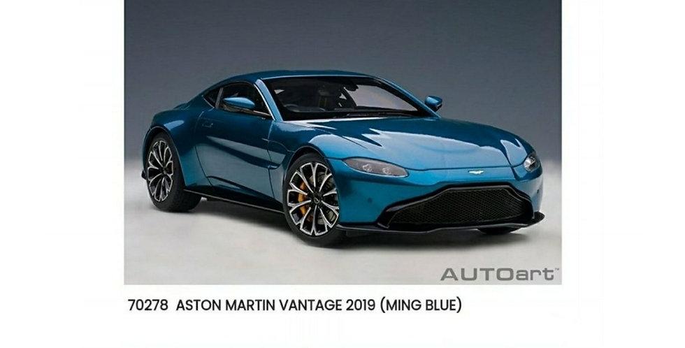 AA70278 ASTON MARTIN VANTAGE 2019 ZAFFRE BLUE 1/18 Model
