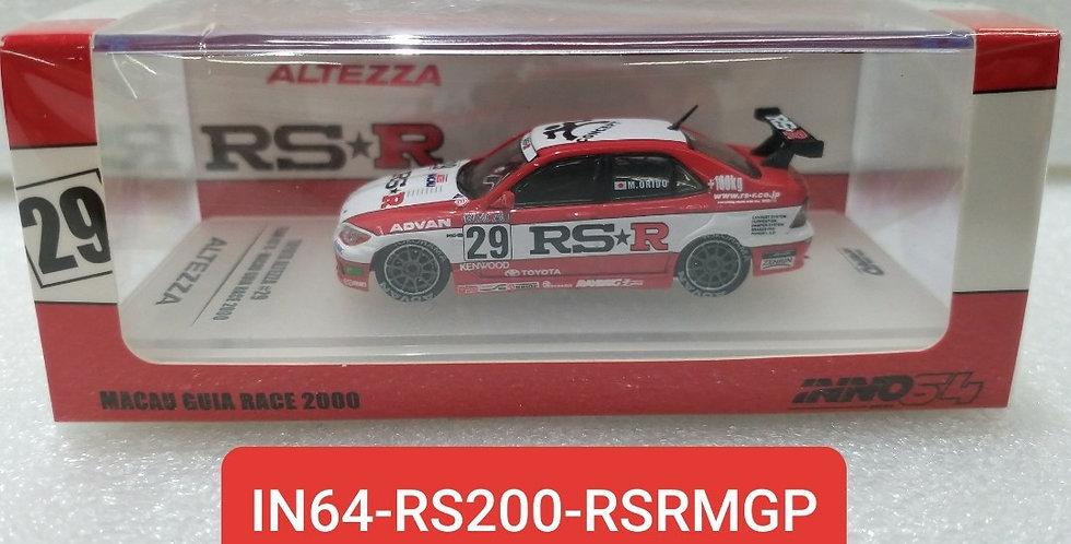 IN64 RS200 RSRMGP TOYOTA ALTEZZA MACAU GUIA RACE 2000 1/64 MODEL