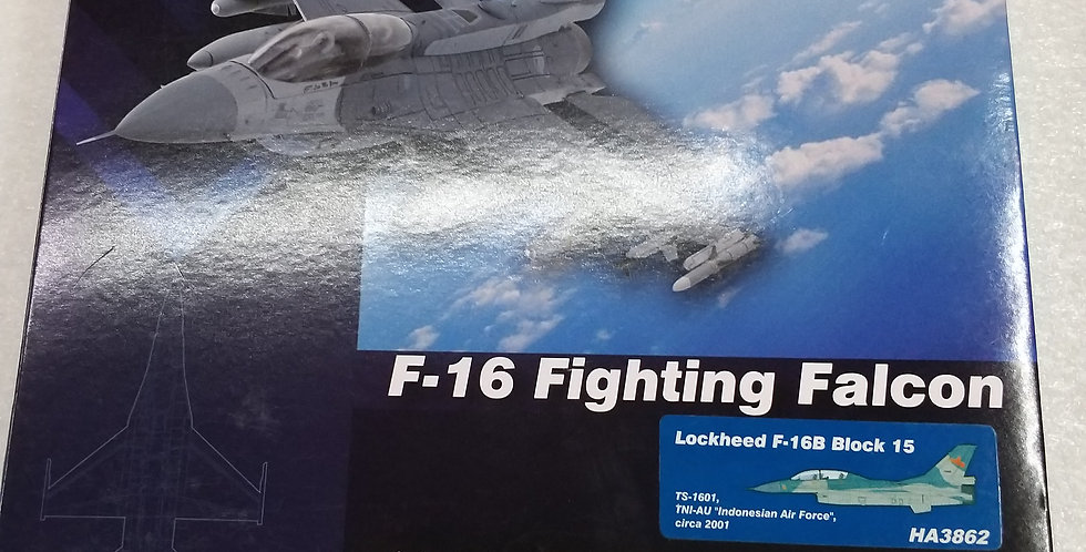 "HA3862 Lockheed F-16B Block 15 TS-1601, TNI-AU ""Indonesian Air Force"", circa 200"