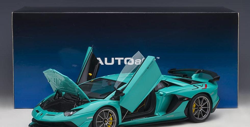 AA79176 Lamborghini Aventador SVJ (Blu Glauco)