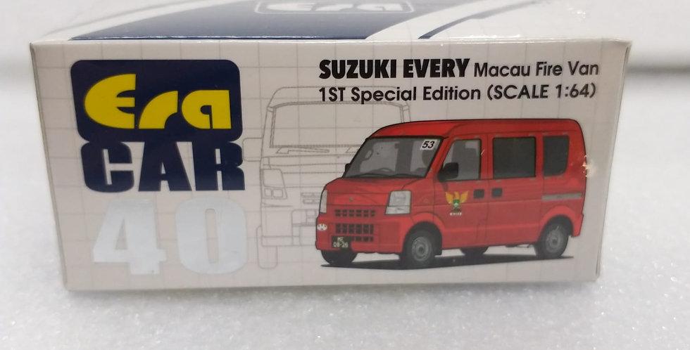 ERA 1/64 SUZUKI EVERY MACAU FIRE VAN 1ST SPECIAL ED MODEL
