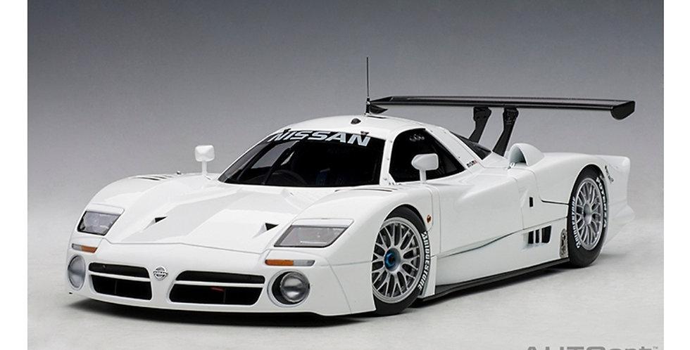 Autoart Nissan R390 GTI LE MANS 1998 White Die Cast Model