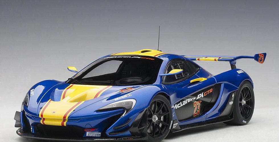 McLaren P1 GTR (Blue Metallic with Yellow stripes) #23