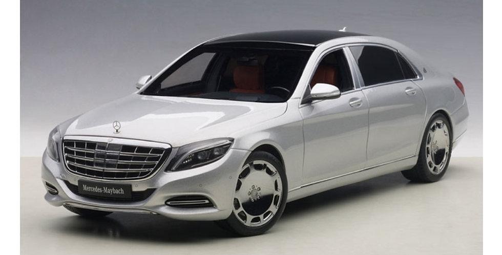 MERCEDES BENZ MAYBACH S KLASSE S600 SILVER 1/18 SCALE AUTOART