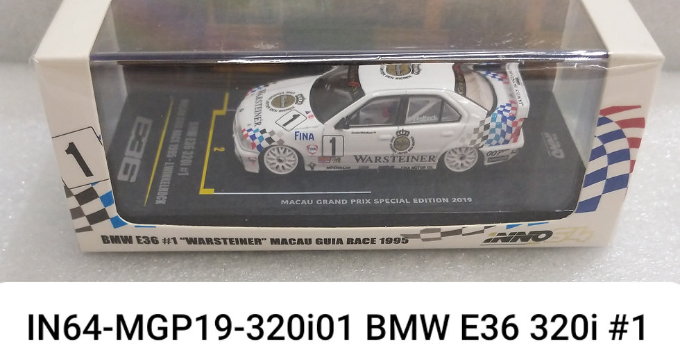 IN64 MGP19 320 E36 BMW #1 WARSTEINER  MACAU GURA RACE 1995 1/64