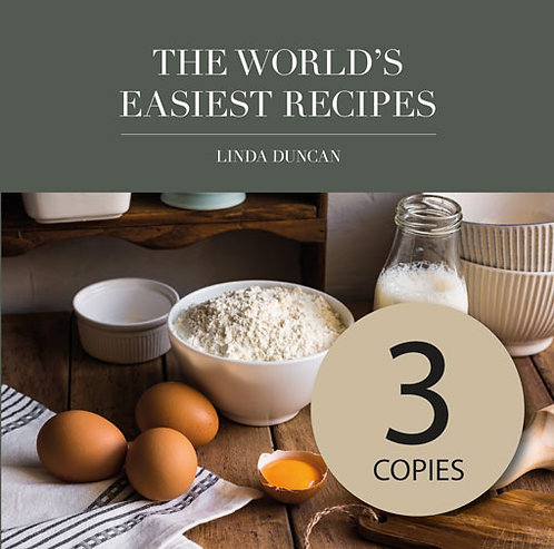 Three copies of The World's Easiest Recipes (Free Shipping anywhere in NZ)