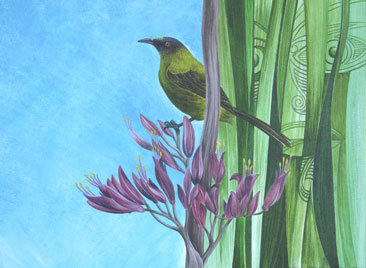 Greeting Card C6 - Bellbird