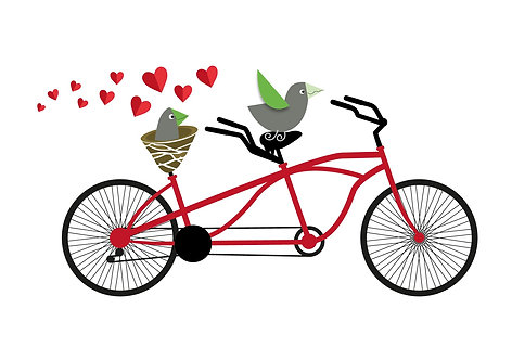 Greeting Card C6 - Tandem Lovers