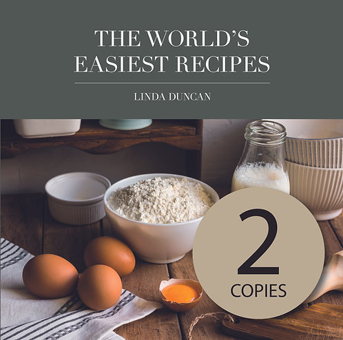 Two copies of The World's Easiest Recipes (Free Shipping anywhere in NZ)