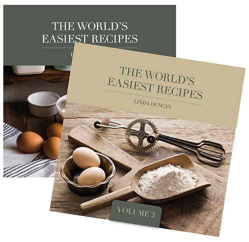 The World's Easiest Recipes both volumes (Free Shipping anywhere in NZ)