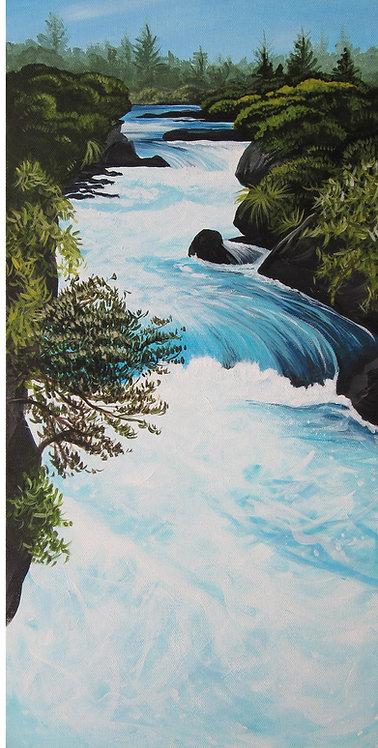Greeting Card DL - Huka Falls (South), Taupo