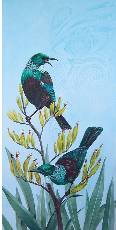 Greeting Card DL -Two Tui
