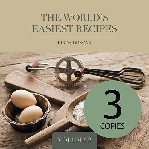 Three copies of The World's Easiest Recipes Volume 2(Free Shipping anywhere in N