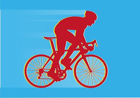 Greeting Card C6 - Road Biker
