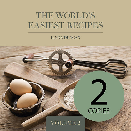 Two copies of The World's Easiest Recipes Volume 2(Free Shipping anywhere in NZ)