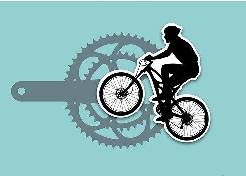 Greeting Card C6 - Mountain Biker